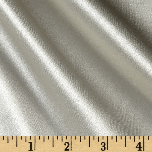 Preview Textiles 100% Silk Charmeuse Silver