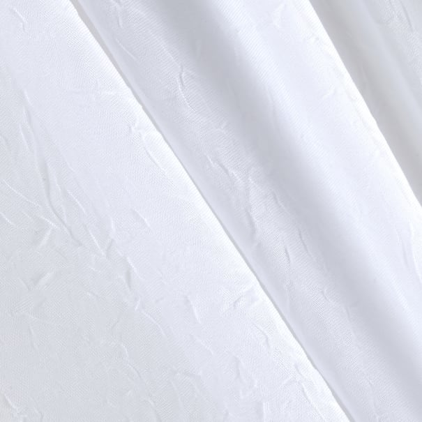 """108"""" Crushed Sheer Voile White"""