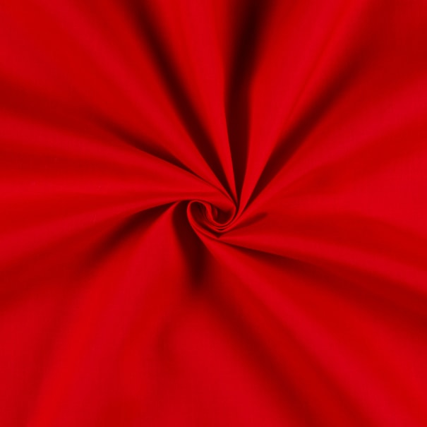 "60"" Poly Cotton Broadcloth Red"
