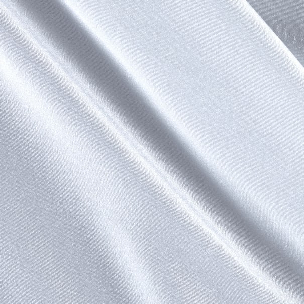 Activewear Spandex Knit Solid White