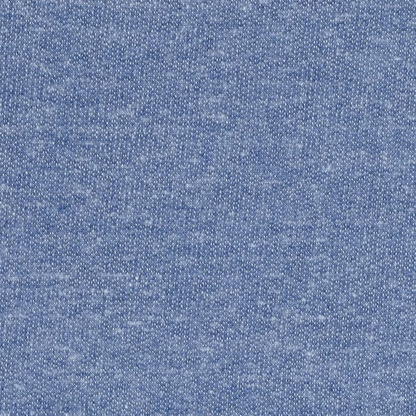Tri Blend French Terry Stretch Knit Chambray
