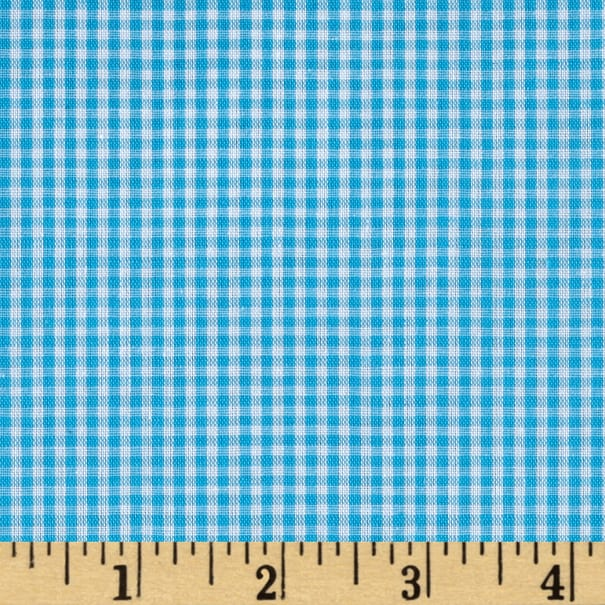 "Richcheck 60"" Gingham Check 1/16"" Turquoise"