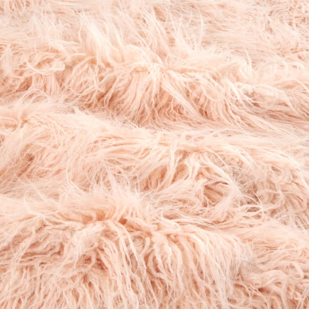 Shannon Lux Fur Curly Yak Peal Pink