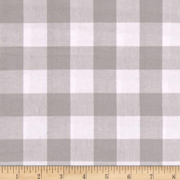 """Cotton + Steel Checkers Yarn Dyed Gingham Woven 1"""" Linen"""