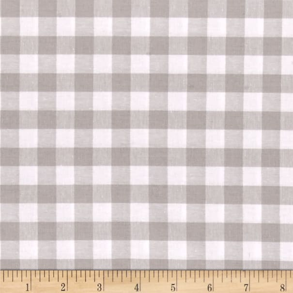 "Cotton + Steel Checkers Yarn Dyed Gingham Woven 1/2"" Linen"