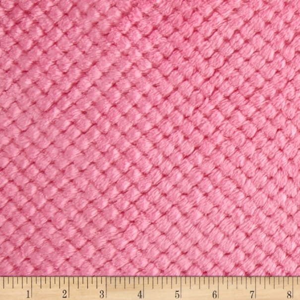 Shannon Minky Cuddle Cloud Spa Hot Pink