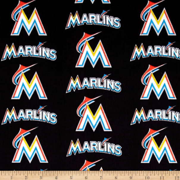 MLB Cotton Broadcloth Miami Marlins Multi