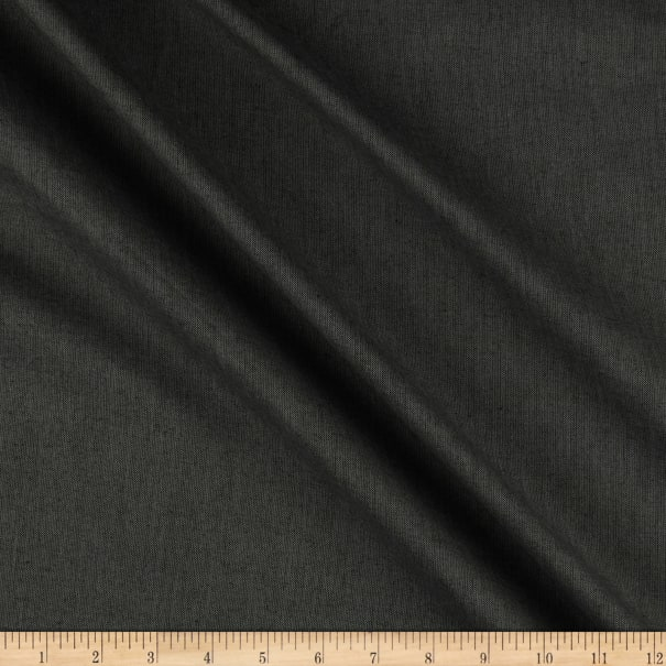 """Peppered Cotton 108"""" Wide  Yarn Dye Charcoal"""