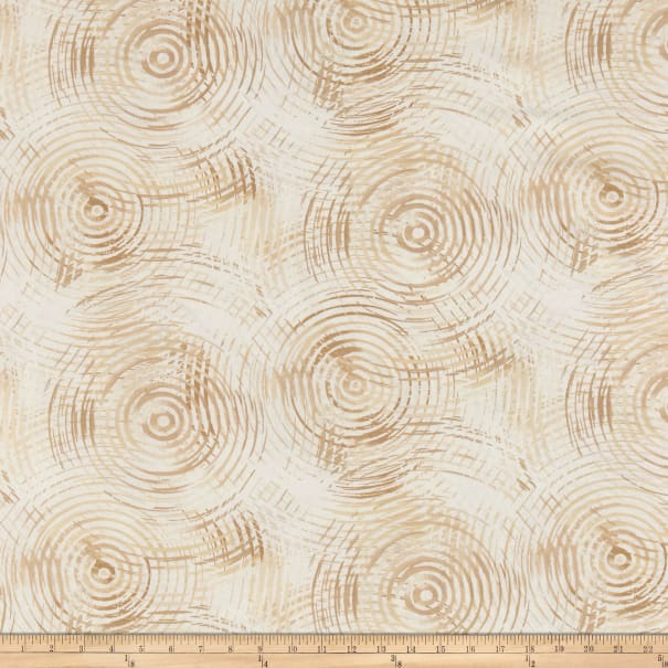 """Circle Play 108"""" Wide Back Ombred Circle Geometric Cream"""