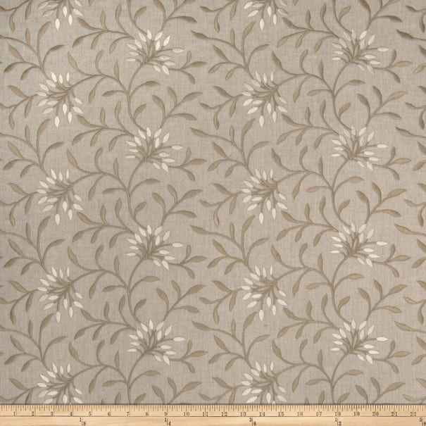 Fabricut Elmley Embroidered Linen Blend Linen
