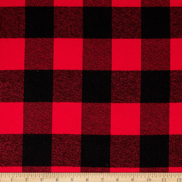 Kaufman Mammoth Flannel Buffalo Check Large Red