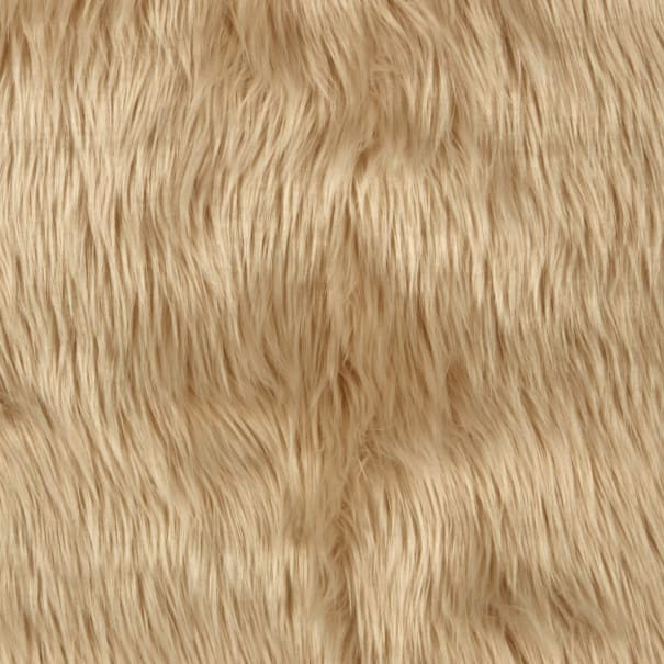 Super Luxury Faux Fur Fabric Material PLUSH SUPER SOFT IVORY