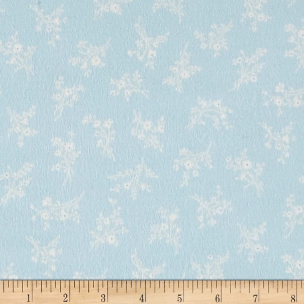 Afternoon In The Attic Flannel Cameo Blossom Bluebell
