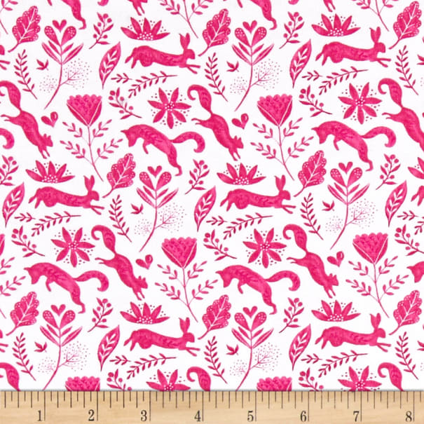 Michael Miller Frolic On Stretch Jersey Knit Frolicking Berry