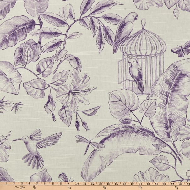 Home Accent Menagerie Toile Grape