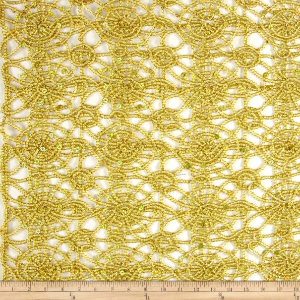 Sequin Lace Gold