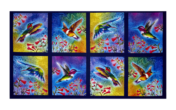 Kaufman Nature Studies Digital Sand Dots, Bright Hummingbirds, Panel