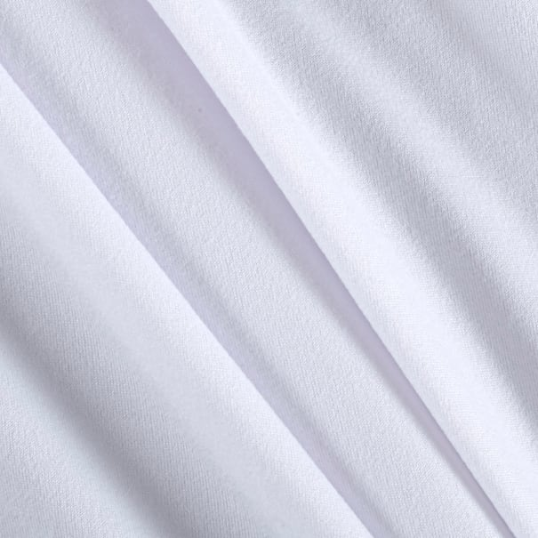 Fabric Merchants Double Brushed Solid Jersey Knit White