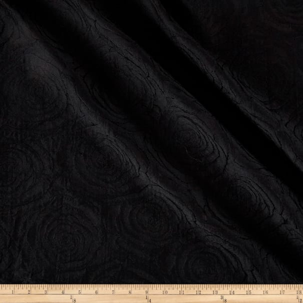 Textured Matelasse Black
