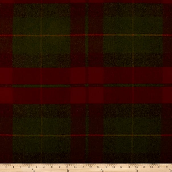Ralph Lauren Home LCF68170F Coach Road Tartan Melton Wool Crimson