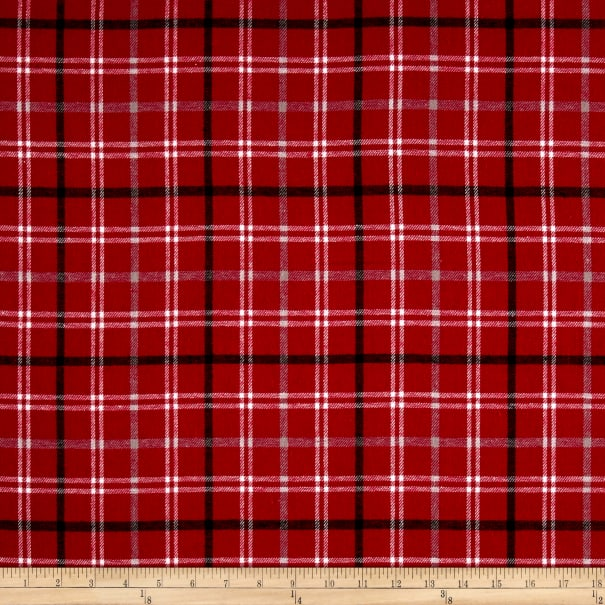 Yarn Dyed Flannel Smokey Red
