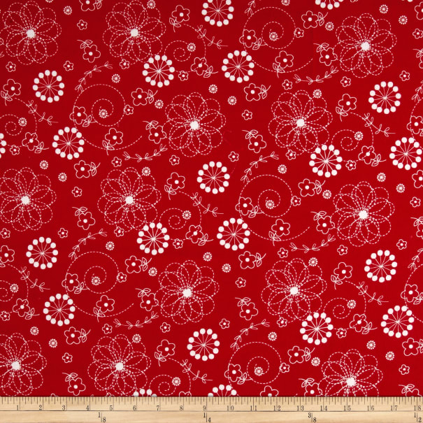 Maywood Studio Kimberbell Lil' Sprout Flannel Too! Doodles Soft Red