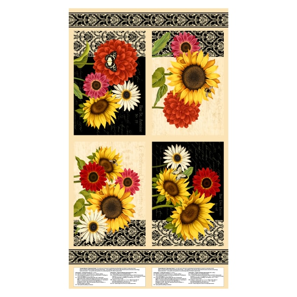 """Wilmington Sunset Blooms Placemat 24"""" Panel Multi"""