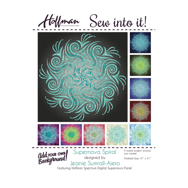"Hoffman Supernova Spiral 41"" Quilt Kit Aquarius"