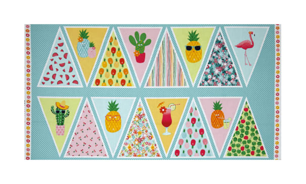 """Andover/Makower Fruity Friends 24""""Panel Bunting Multi"""
