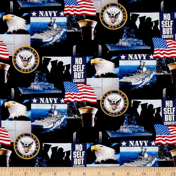 Military Navy Allover Multi