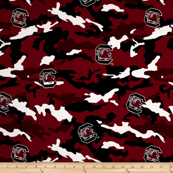 NCAA South Carolina Gamecocks Camouflage Red