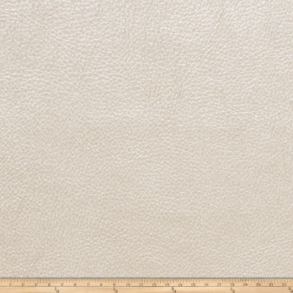 Fabricut Saratoga Faux Leather White Gold