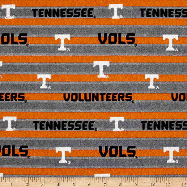 NCAA Tennessee Volunteers Polo Stripe Allover Grey