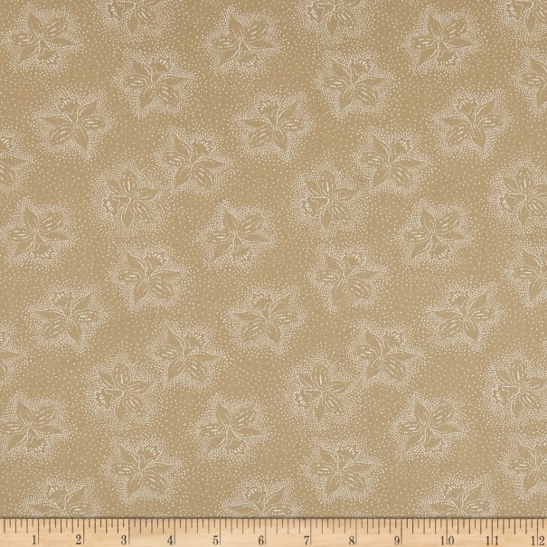 """108"""" Wide Back Monotones Floral White/Teastain"""