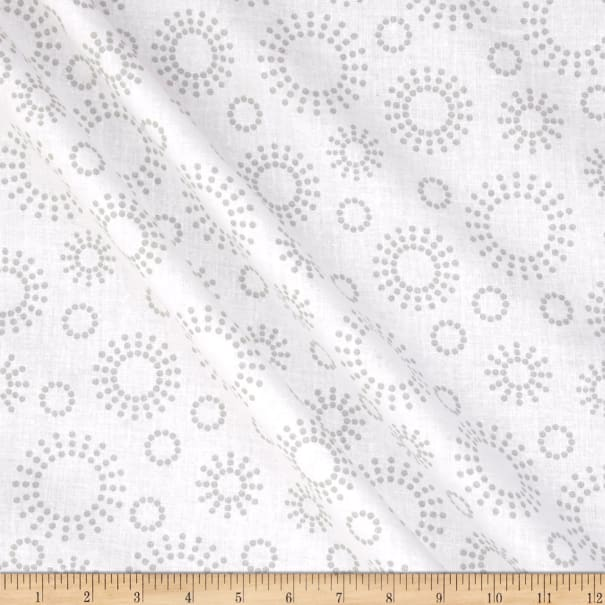 """108"""" Wide Back Get Back Circle Dots Grey/White"""
