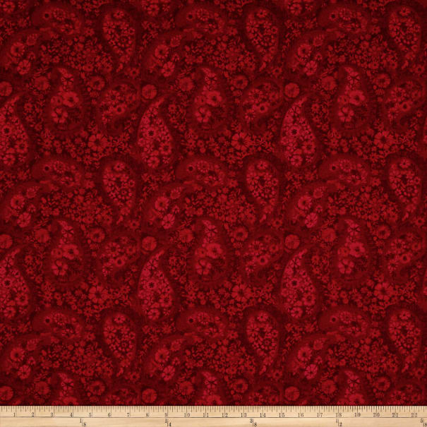 "108"" Wide Back Paisley Red"