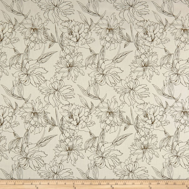 Art Gallery Decadence Fair Peonies Traced White