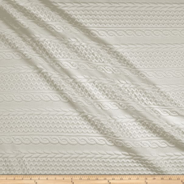 Telio Cable Fable Quilt Stretch Knit Ecru
