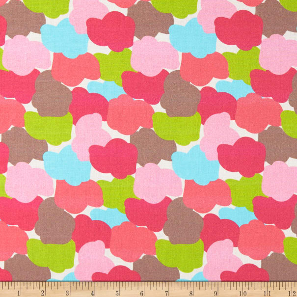 Paintbrush Studio Jump Ride Spin Colorful Clouds Pink/Chartreuse Blue
