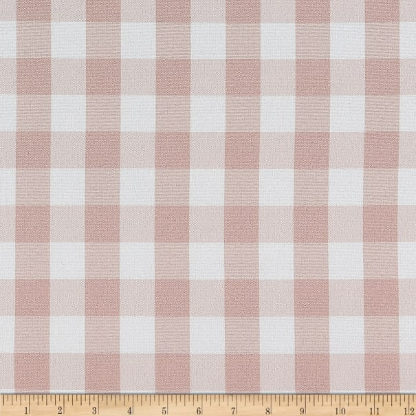 Picnic Gingham Yarn-Dyed Blush Pink/White