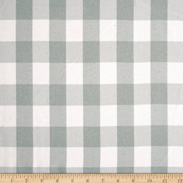 Picnic Gingham Yarn-Dyed Silver/White