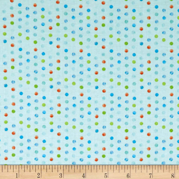 Wilmington Sparkle Magic Shine Dots Teal