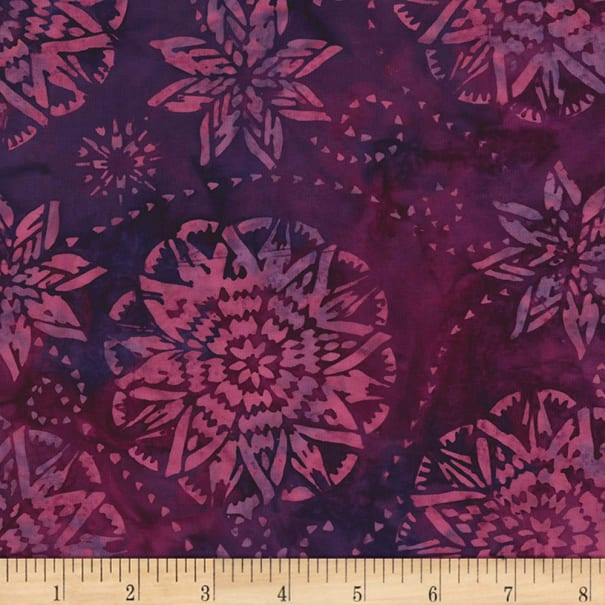Timeless Treasures Tonga Batiks Jewel Amethyst Dream Berry