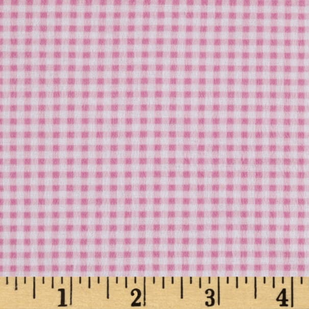 Gingham Flannel Pink