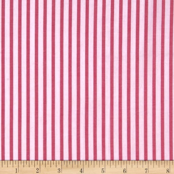Cotton Lawn Stripe Pink