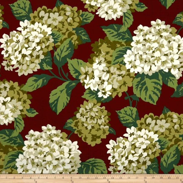 Magnolia Home Fashions Summer Wind Canvas Red