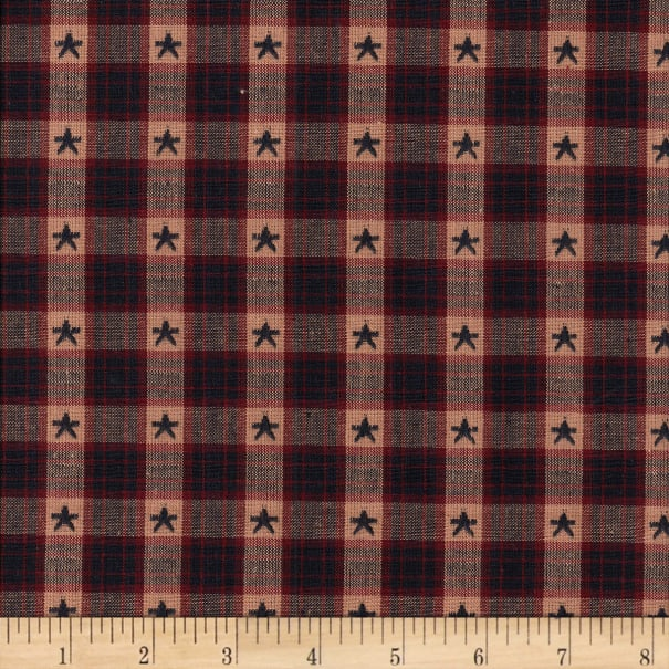 """Old Glory 1/2"""" Star Dobby Check Yarn Dyed Navy/Wine/Natural"""