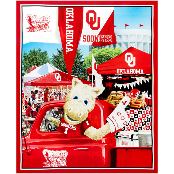 "NCAA Oklahoma Sooners Digital Tailgate Cotton Panel 36"" x 44"""