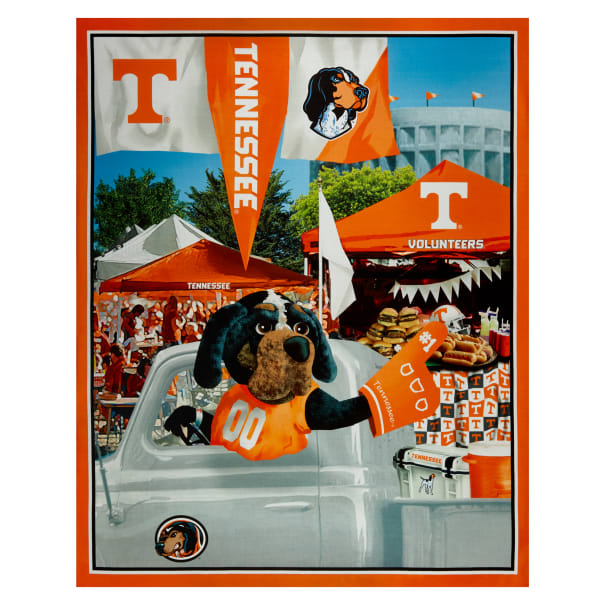 "NCAA Tennessee Volunteers Digital Tailgate Cotton Panel 36"" x 44"""