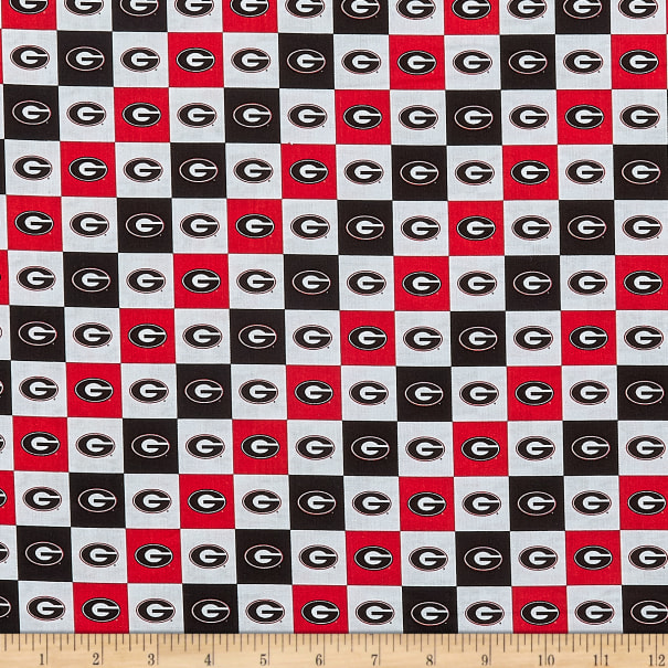 NCAA Georgia Bulldogs Broadcloth NCAA Check